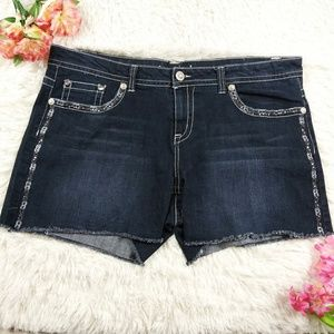 Maurices Straight Distress Women Embellished Short